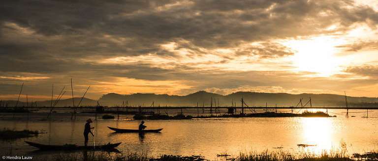 Sunrise in Rawa Pening Central Java Indonesia