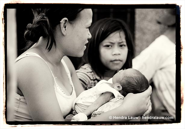 A Newborn at the Manila North Cemetery