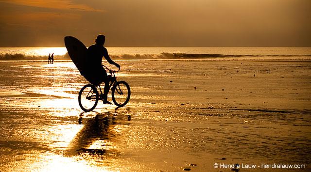 Sunset at Seminyak Beach Bali