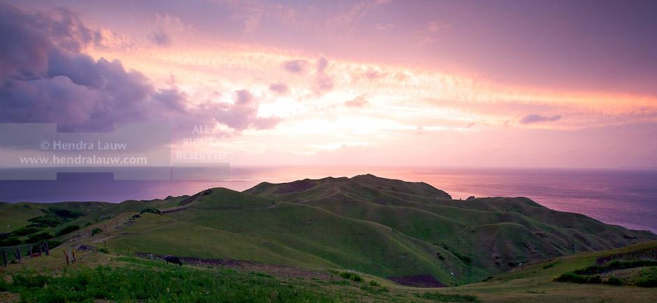 Sunset at Rolling Hills Batanes