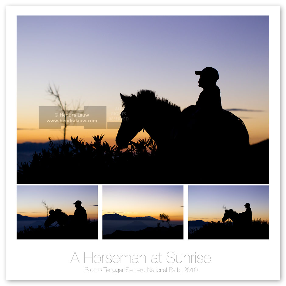 A Bromo's Horseman at Sunrise