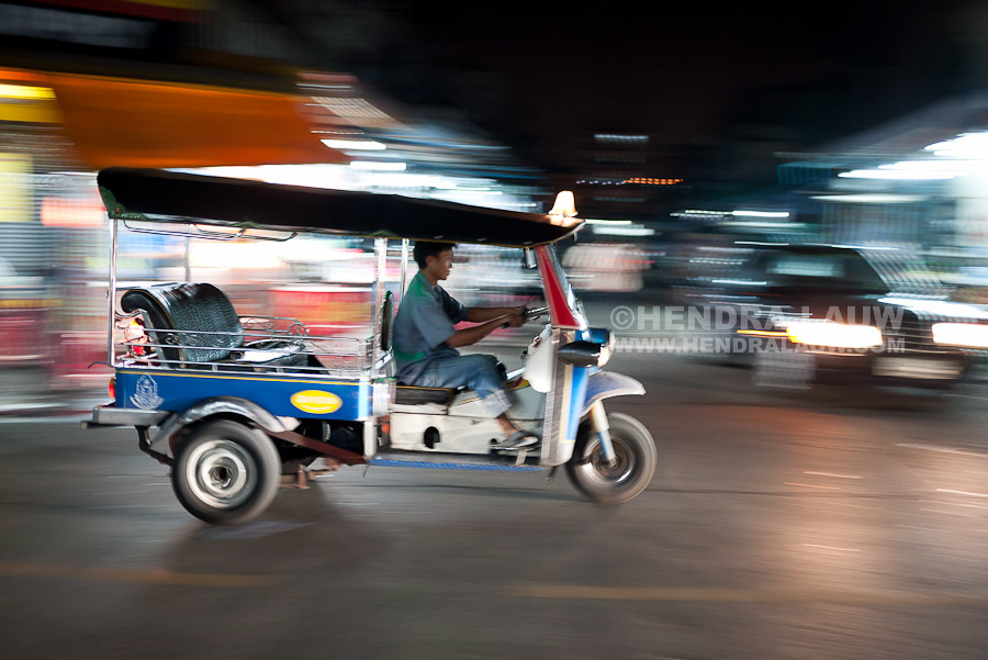 Bangkok Tuk Tuk at Night