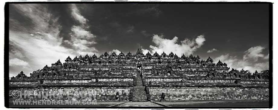 Borobudur and Mount Merapi