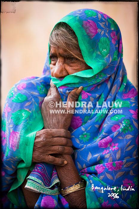 A Travel Portrait at Yeshwanthpur Market India