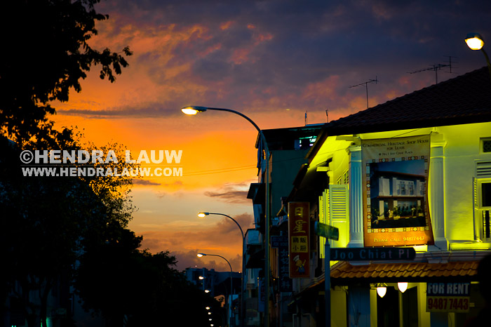 What To Shoot In Singapore – Sunset at Joo Chiat