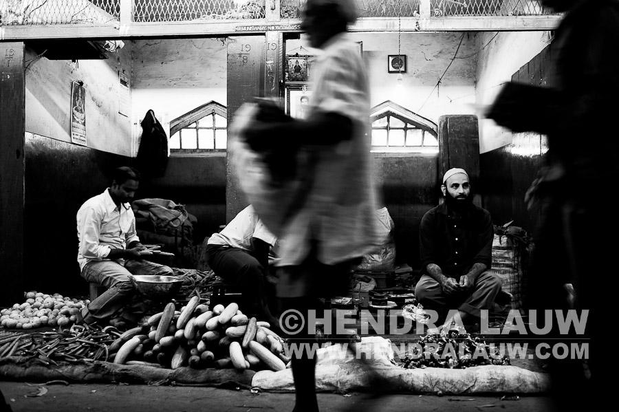 Walking and Waiting at Shivaji Nagar Market