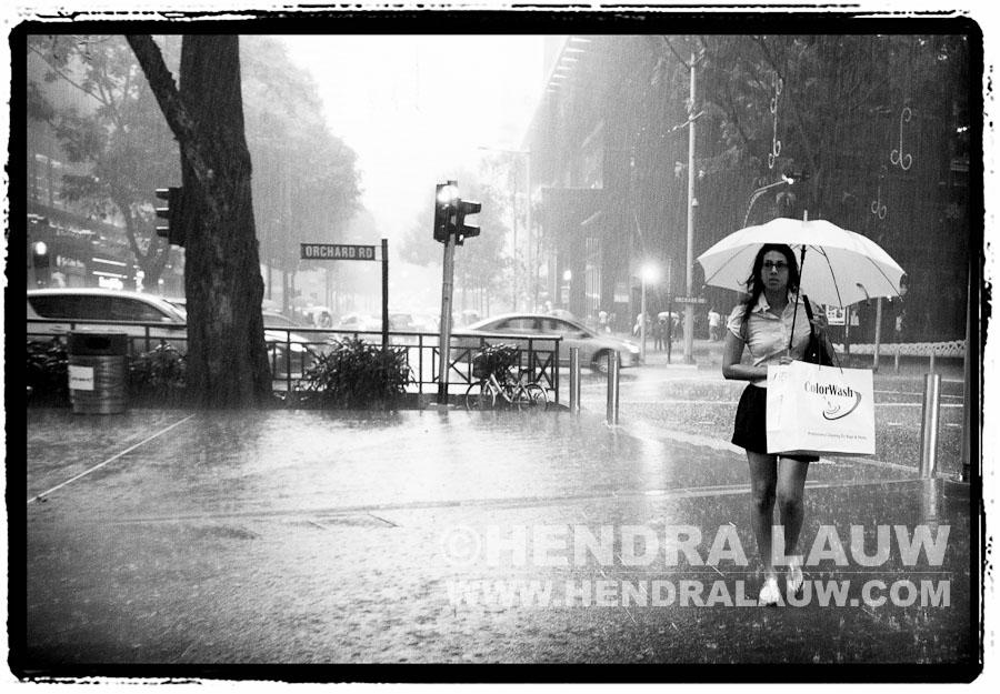 Raining in Orchard Road