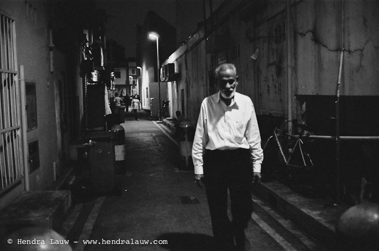 In the dark alley of Little India