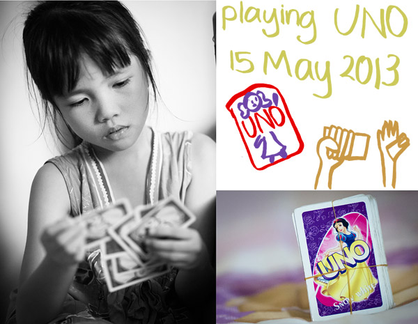 Everyday Photo – Playing UNO