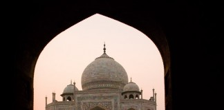 The Taj Mahal at Sunset