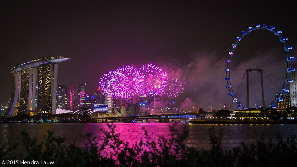 SG50 Fireworks at Marina Bay Singapore – NDP2015 Rehearsal