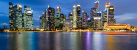 Singapore Skyline in Marina Bay 2017 by Hendra Lauw