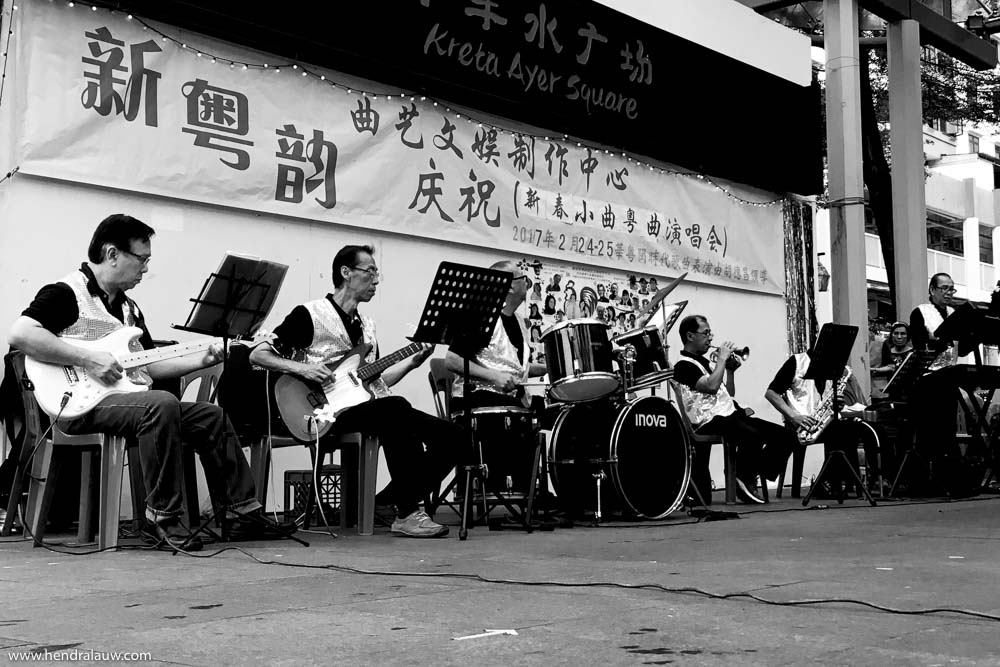 Singapore getai show in Chinatown