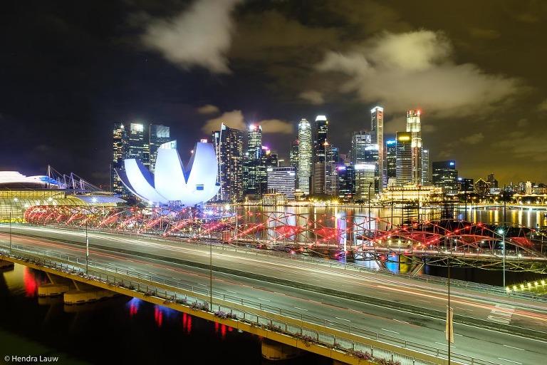 Singapore skyline in Marina Bay in 2017
