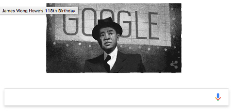 Google doodle 28 August 2017 James Wong Howe